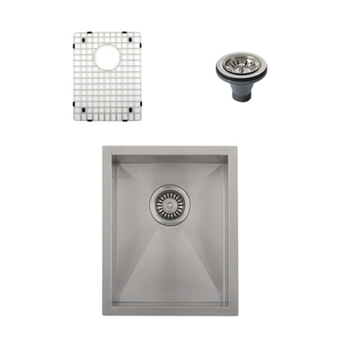 Ticor S3620 Undermount 16-Gauge Stainless Steel Kitchen Sink + Accessories