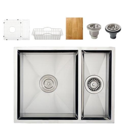 Ticor S408 Undermount 16 Gauge Stainless Steel Kitchen Sink + Accessories