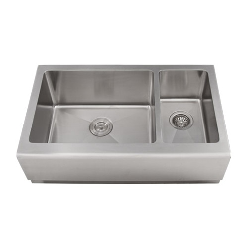 S4406 Apron 16 Gauge Stainless Steel Kitchen Sink With Free Stainless ...
