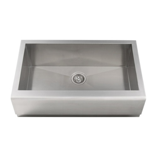 "Ticor S4407 33"" Apron Farmhouse 16-Gauge Stainless Steel Kitchen Sink With Free Deluxe Strainer"