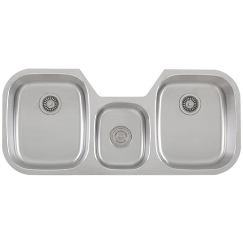 ... Sinks / Ticor S605 Undermount Stainless Steel Triple-Bowl Kitchen Sink