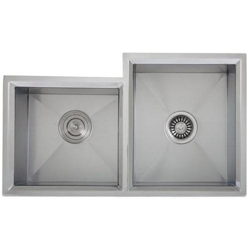 Ticor S608R Undermount 16-Gauge Stainless Steel Kitchen Sink With Free Deluxe Strainer & Basket Strainer
