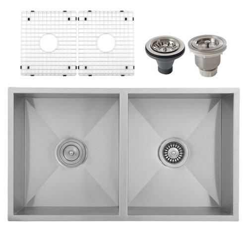 16 Gauge Stainless Steel Undermount Kitchen Sinks : ... Sinks / Ticor S6501 Undermount 16-Gauge Stainless Steel Kitchen Sink