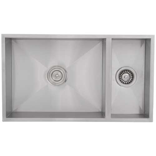 Square Kitchen Sink : Bowl Sinks / Ticor S6502 Undermount Stainless Square Kitchen Sink ...