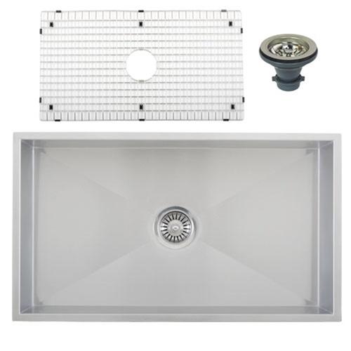 Ticor S6503 Undermount 16-Gauge Stainless Steel Kitchen Sink + Accessories