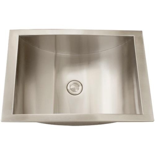 Overmount Stainless Steel Sink : ... Single Bowl Sinks / Ticor S740 Overmount Stainless Steel Bathroom Sink