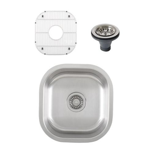 Ticor S815 Undermount 16 G Stainless Steel Single Bowl Kitchen Sink + Accessories