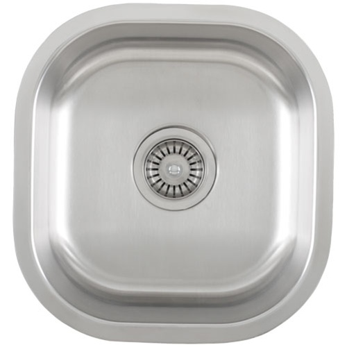 Ticor S815 Undermount 16 G Stainless Steel Single Bowl Kitchen Sink With Free Deluxe Strainer