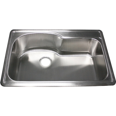 Ticor S990 Overmount 18-Gauge Stainless Single Bowl Kitchen Sink With Free Deluxe Strainer