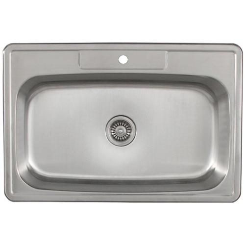 Overmount Stainless Steel Sink : Sinks / Ticor S994 Overmount Stainless Steel Single Bowl Kitchen Sink ...