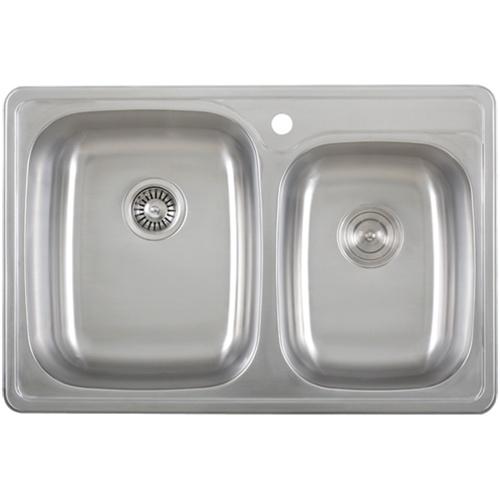 Overmount Stainless Steel Sink : Sinks / Ticor S995 Overmount 18-Gauge Stainless Steel Kitchen Sink ...