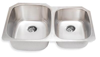 Suneli SM503R-16 16 Gauge Undermount Double Bowl Stainless Steel Sink