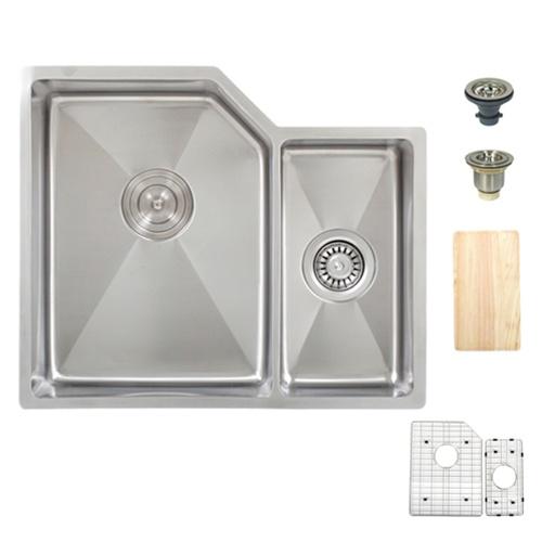 Ticor TR1200 Tight Radius Corners Undermount 16-Gauge Stainless Sink + Accessories