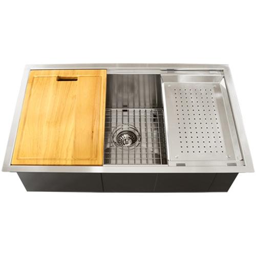 Ticor TR4000 Undermount 16-Gauge Stainless Steel Square Kitchen Sink + Accessories