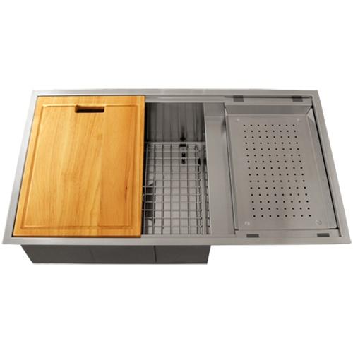 Ticor TR4100 Undermount 16-Gauge Stainless Steel Square Kitchen Sink + Accessories