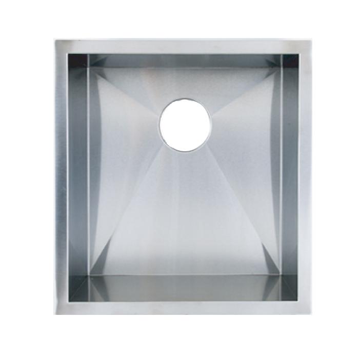 """19"""" Stainless Steel Zero Radius Undermount Kitchen Bar Sink WC12S1920"""