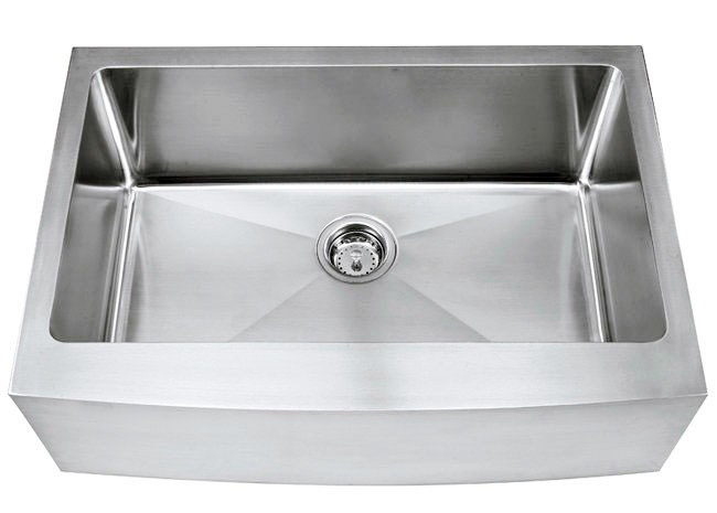 "30"" Stainless Steel Curved Front Apron Sink 15mm Radius TZ3021CFS"