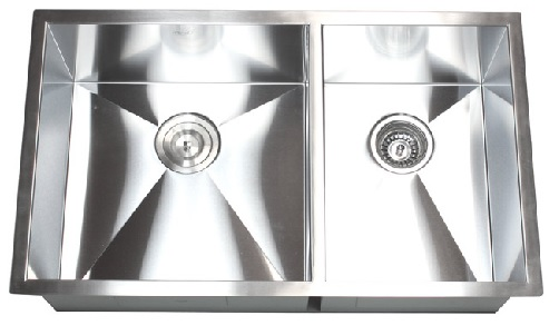 "32"" Undermount 60/40 Stainless Steel Kitchen Sink"