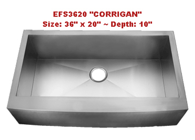 Homeplace Corrigan EFS3620 Single Bowl Stainless Steel Sink