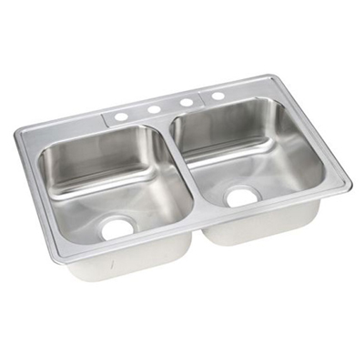 Elkay Stainless Steel Kitchen Sinks : ... Bowl Sinks / ELKAY Dayton 4H Kitchen Sink STAINLESS STEEL DSE233224