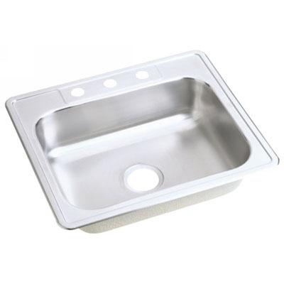 Dayton Sinks : ELKAY 25X22 Dayton 3H Meridian SINK SS DSEJ125223