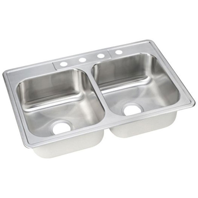 33x22 Stainless Steel Sink : ... Double Bowl Sinks / ELKAY 33X22 Dayton 4H Meridian SINK SS DSEJ233224