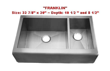 Franklin Kitchen Sinks : Homeplace Franklin Double Bowl Stainless Steel Sink Stainless Sinks ...