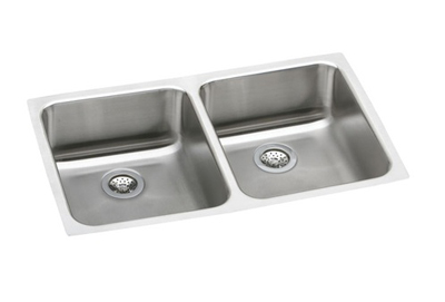 Elkay 31x18x10 Undermount Double Bowl Sink ELUH311810