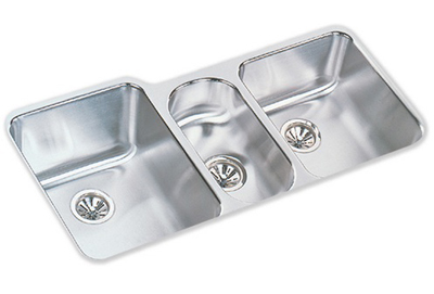 Elkay 40x20 Undermount Triple Bowl Sink ELUH4020
