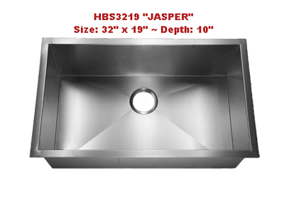 Homeplace Jasper HBS3219 Single Bowl Stainless Steel Sink