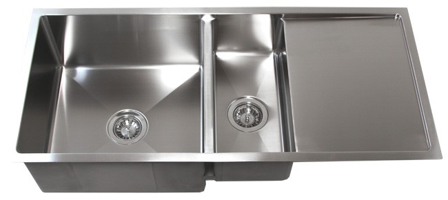 "42"" Stainless Steel Undermount Kitchen Sink w/ Drain Board TZ4219CFD"