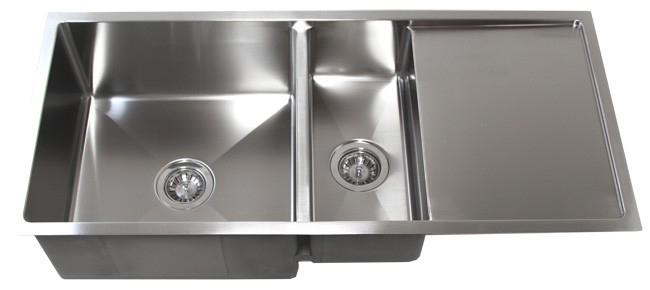"42"" Stainless Steel Undermount Kitchen Sink w/ Drain Board TZ4219CFD"