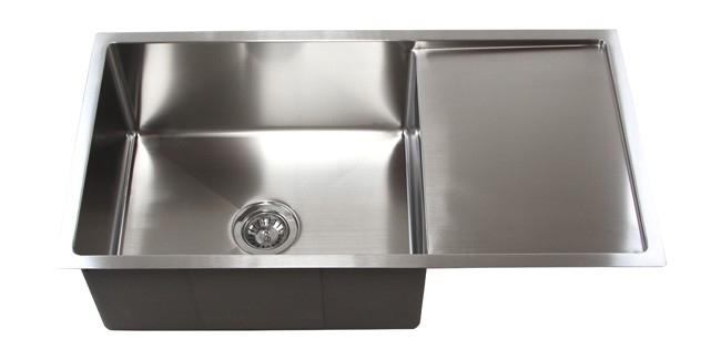 "36"" Stainless Steel Undermount Kitchen Sink W/ Drain Board TZ3619CFS"