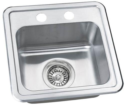 "15"" Stainless Steel Drop In Kitchen / Bar / Prep Sink WC1515TD"