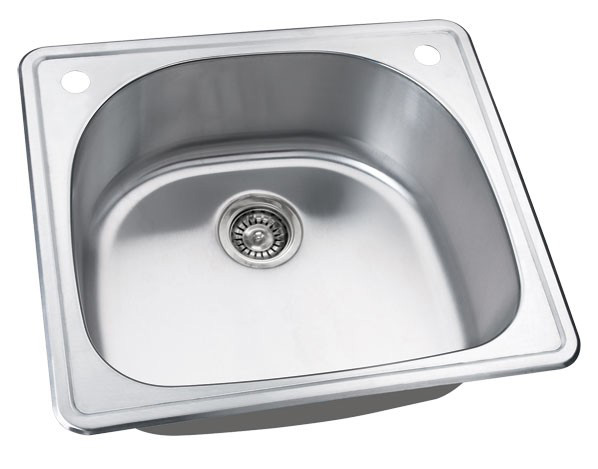 "25"" Stainless Steel Drop In Kitchen / Bar / Prep Sink WCDOM2522"