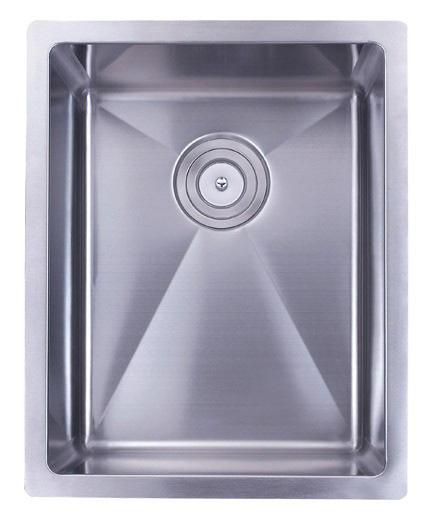 """16"""" Stainless Steel 15mm Radius Undermount Kitchen Bar / Prep Sink - 16 Gauge TZ1620"""