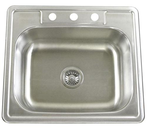 "25"" Top-Mount / Drop-In Kitchen Island / Bar Sink WCTM2522"