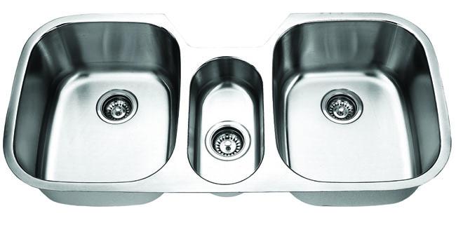 Fontaine Stainless Steel Triple Bowl Undermount Kitchen Sink