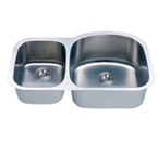 C-Tech-I Linea Imperiale Massilia LI-100-MD Double Bowl Stainless Steel Sink