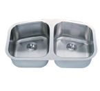 C-Tech-I Linea Imperiale Lusitania LI-200 Double Bowl Stainless Steel Sink