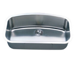 C-Tech-I Linea Imperiale Britania LI-200-L Single Bowl Stainless Steel Sink