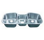 C-Tech-I Linea Imperiale Potenza LI-200-T Triple Bowl Stainless Steel Sink