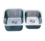 C-Tech-I Linea Imperiale Dalmacia LI-300 Double Bowl Stainless Steel Sink