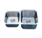 C-Tech-I Linea Imperiale Dalmacia LI-300-D Double Bowl Stainless Steel Sink