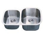 C-Tech-I Linea Imperiale Garda LI-300-SD Double Bowl Stainless Steel Sink
