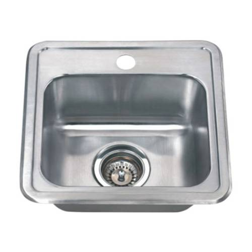 Wells Sinkware 18 Gauge Single Bowl Topmount Stainless Steel Kitchen Sink Package CMT1515-6-1