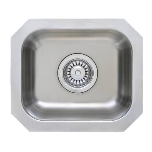 Wells Sinkware 18 Gauge Single Undermount Bowl Stainless Steel Kitchen Sink GLU1412-7-1