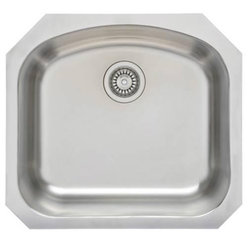 Wells Sinkware 17 Gauge Deck/ 18 Gauge Single Bowl Undermount Stainless Steel Kitchen Sink Package CHU2421-8-1