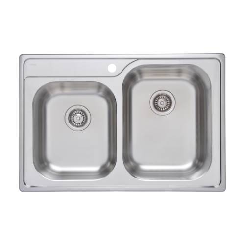 Wells Sinkware 18 Gauge Double Bowl Topmount Stainless Steel Kitchen Sink Package GLT3322-97-1