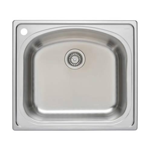 Wells Sinkware 18 Gauge Single Bowl Topmount Stainless Steel Kitchen Sink CHT2522-8L-1